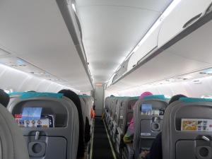 Suasana di dalam pesawat, untuk +- 80 penumpang